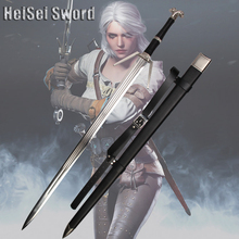 Cosplay The Witcher 3: Wild Hunt Geralt of Rivia Western Sword Game Amine Stainless Steel Sharp Edge Real Weapon