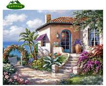 Garden House Full Drill Square Diamond Painting Wall Decor New Needlework Cross Stitch Diamond Embroidery Harvest Season