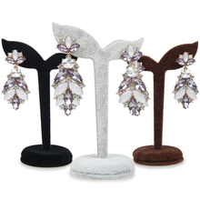New Arrival 4 Color Velvet Earring Display Stand Props Stud Earrings Holder Rack Storage Dangle Tree Fashion Women Jewelry(China)
