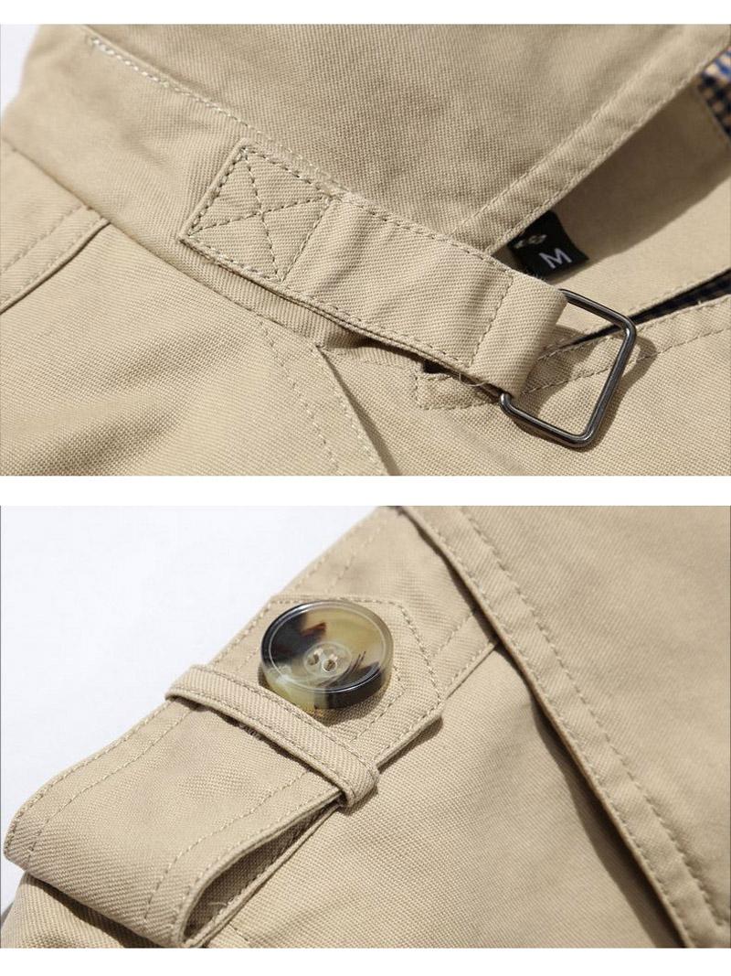 Korean Overcoat Khaki Black PLus size XXXL XXXXL 5XL british style Slim fit trench coat long men New Spring 2017 man Windbreaker (8)