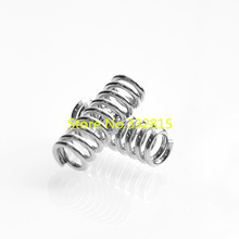 10pcs/lot 3D printer accessory feeder spring for Ultimaker Makerbot Wade extruder nickel plating 1.2mm 20 mm top quality
