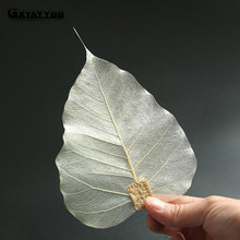 GXYAYYBB 1Pcs/Set Pure Bodhi Leaf Tea Filter Creative Bookmarks Adornment Hollow Out The Leaves Personality Filter Tea Accessory(China)