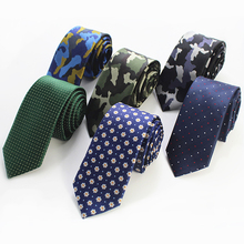 RBOCOTT Hot Sale Mens Slim Tie Dot & Floral & Camouflage Patterned Ties 6cm Neck Ties Fashion Skinny Tie Wedding Party NeckTies(China)