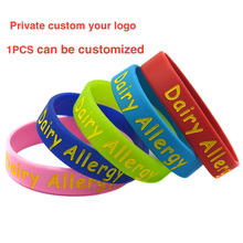 custom silicone bracelet for kids adult one pcs bracelet can be customized personalized gift retail customization(China)