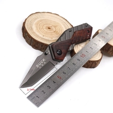 Buck Knife X59 Tactical Survival Folding Knife Blade Hardened 5Cr13 57HRC Pocket Hunting Knives Camping EDC Tools Free Shipping(China)