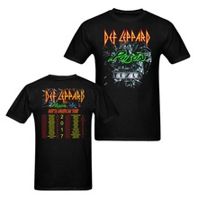 Def Leppard Poison Tesla North American Tour Dates 2017 T-Shirt Men and Women Tee Euro Size S-XXXL