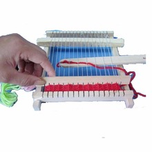 1 pcs Kids Children Girls Hand Weaving Looms Toys Knitting Machine Educational Knitting Puzzles Toy(China)