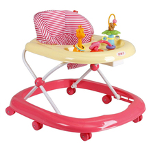 High Quality Multifunctional Baby Walker Anti- Rollover Large Chassi Baby Walk Learning Car Music Stroller Foldable Walker C01