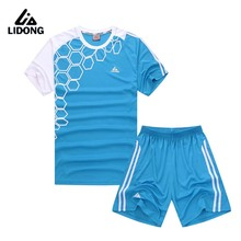 LIDONG 2017 Child Kids Men Football Kits Boys Soccer Sets Jersey Uniforms Futbol Training Suits Breathable Short Sleeved Jerseys