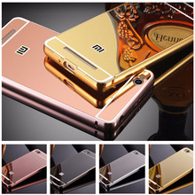 Luxury Rose Gold Mirror Case Cover For Xiaomi Redmi 4A Phone cases For Xiaomi Redmi 4A 4 A Back Cover Shell Redmi 4A