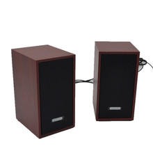 Promotional high quality Portable Wooden Speaker Sound Speaker for Laptop PC Mobile Phones Natural wood Square Speaker