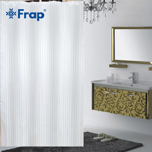 Frap 7color 180*180cm Popular solid Bathroom Curtains Big Circle Shower Curtain Fabric Polyester Bath curtains with hooks F8602(China)
