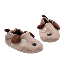 Animal Style Children Baby Girls Boys Shoe Slippers England Khaki Cotton Indoor Sneakers Home Living Stock Shoes Footwear(China)