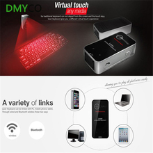 DMYCO Bluetooth Virtual Laser keyboard Mouse Combo Mini Wireless Projection Keyboards QWERTY For Ipad Iphone Tablet Laptop PC