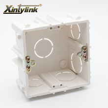 xintylink rj11 rj45 jack Face Plate Back Box rj45 socket junction box embedded wall faceplate box flame retardant pvc 86mm(China)