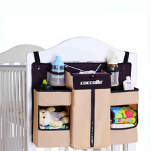 Nursery Organizer Baby Crib Bed Hanging Storage Bag Newborn Diaper Stacker Caddy For Baby Bedding Set Accessories Washable(China)