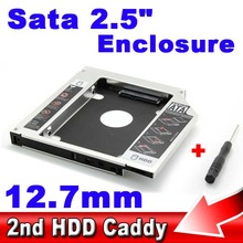 "2.5"" SSD HDD HD Hard Disk Driver External 12.7mm 2nd Caddy SATA 3.0 Case Enclosure for CD DVD ROM Optical Bay for Notebook"