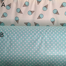 160cm*50cm Blue ice cream cotton fabric print bedding pillowcase curtain linens quilt patchwork fabric sewing tecido tissue