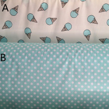 160cm*50cm Blue ice cream cotton fabric print bedding pillowcase curtain linens quilt patchwork fabric sewing tecido tissue(China)