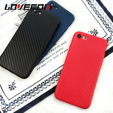 LOVECOM For iPhone 6 6S Plus 7 Plus Phone Cases Weave China Red Candy Color Soft TPU Back Cover Bag Coque Capa Shell Top Quality