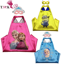 30 pcs / lot anna elsa cap clothes 70cm * 70cm anna elsa child cosplay costume for halloween birthday supplier(China)