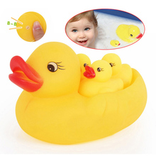 1set = 4pcs Baby Products Baby Sounding Rubber Duck Toy Lovely Yellow Ducks Children Bath Toys -- BYA018 PTP