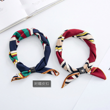 Spring and autumn wild new printing small scarves Fashion women color lattice small square scarf