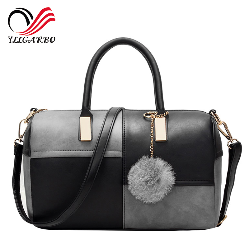 2017 New Bags Arrival Patchwork Leather Casual Bags For Ladies Bags Women Famous Brands Designer Handbags High Quality crossbody<br><br>Aliexpress