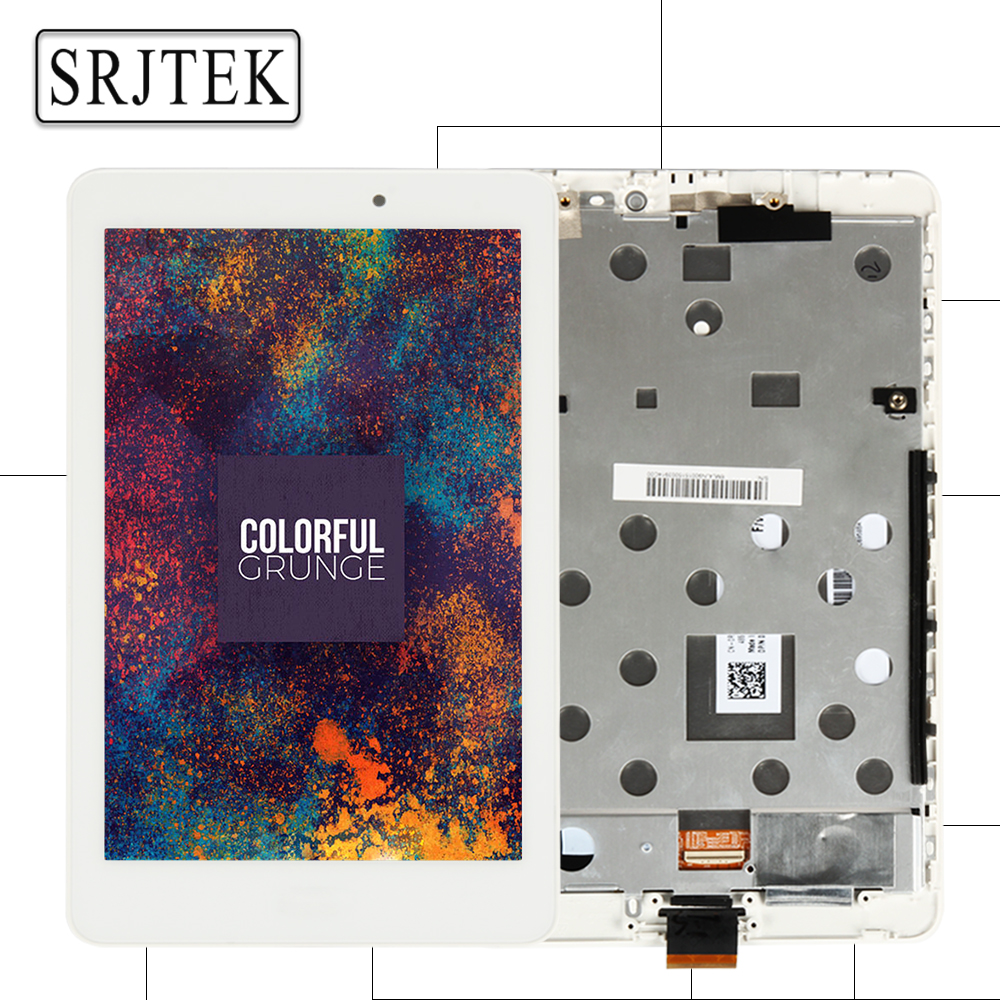 Srjtek 8 For Acer Iconia Tab 8 A1-840FHD A1-840 A1-840HD A1 840 LCD Display Matrix Touch Screen Digitizer Assembly with Frame<br>