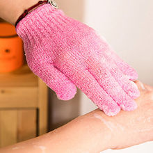 2 pcs Shower Bath Gloves Exfoliating Wash Skin Spa Massage Body Scrubber Cleaner(China)