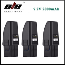 3x Eleoption 7.2V 2000mAh Black Vacuum Battery Fits For Ontel Swivel Sweeper G1 & G2 Compare to Part RU-RBG