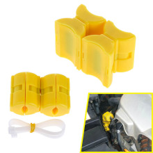 Universal Vehicle Magnetic Gas Fuel Saver Car Power Saver Oil Saving Economizer Fuel Saver Yellow Color ABS High Quality(China)