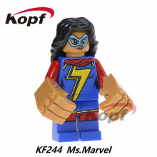 Ms. Marvel Joker Luke Skywalker He-Man Heman Man Skeletor Star Wars Building Blocks Super Heroes Bricks Children Toys KF244 - Minifigures store