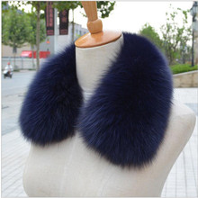Real fox Fur Collar Scarf Womens Shawl Wraps Shrug Neck Warmer Black Stole Wholesale Hot sale Ring Scarf Womens L#11