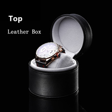 Top Black Leather Brand Watch Box Single Watch Storage Box Fashion Original Watch Gift Boxes Case W077