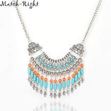 Match-Right Women Necklace Bohemia Statement Necklaces Pendants Trendy Jewelry Tassel Necklace Women Accessories NL559