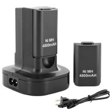 Top Selling High Quality Dual Charger Dock Station + 2 Rechargeable Battery 4800mAh for Xbox 360 Controller