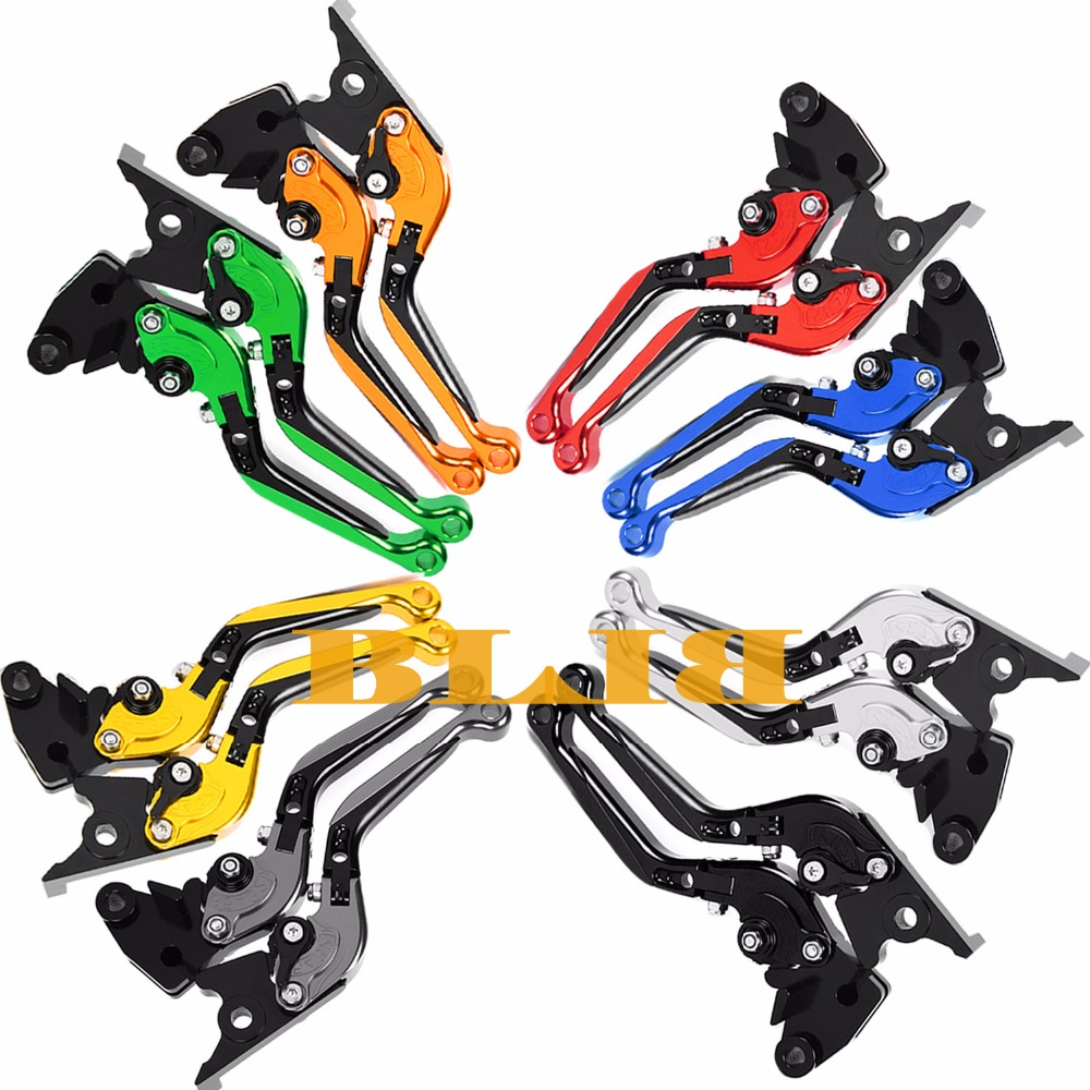 For Kawasaki ZZR600 ZX6R ZX636R ZX6RR ZX9R ZX10R VERSYS 1000 Z1000 ZX12R Motorcycle Foldable Extending Brake Clutch 170mm Levers<br>
