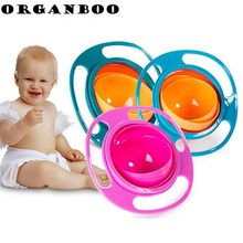 ORGANBOO 1PC Creative Dinnerware Design 360 Rotational Inverted Plate Kid Toys Dishes Child Tableware Non Spill Food Plate(China)