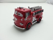 Pixar Cars 2 Red Firetruck Metal Diecast Toy Car 1:55 Loose Brand New In Stock & Free Shipping