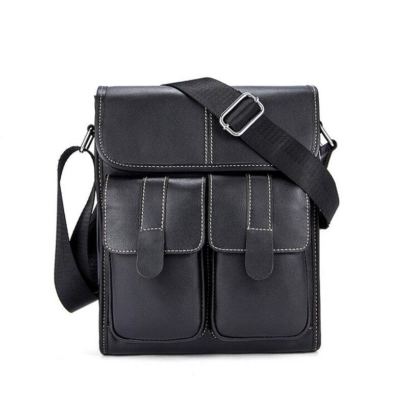 Mens Shoulder Bag Flap Genuine Cowhide Leather Messenger Bags For Men Crossbody Bag Small Mens Leather Handbag Hot Sale<br>