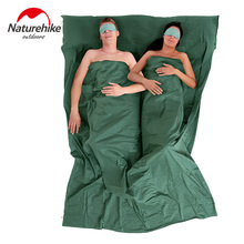 NatureHike Portable Double Sleeping Bag Liner Bags 2Colors 2200x1600mm Ultra-light Spring Summer Camping Envelope Lazy Bag 850g(China)