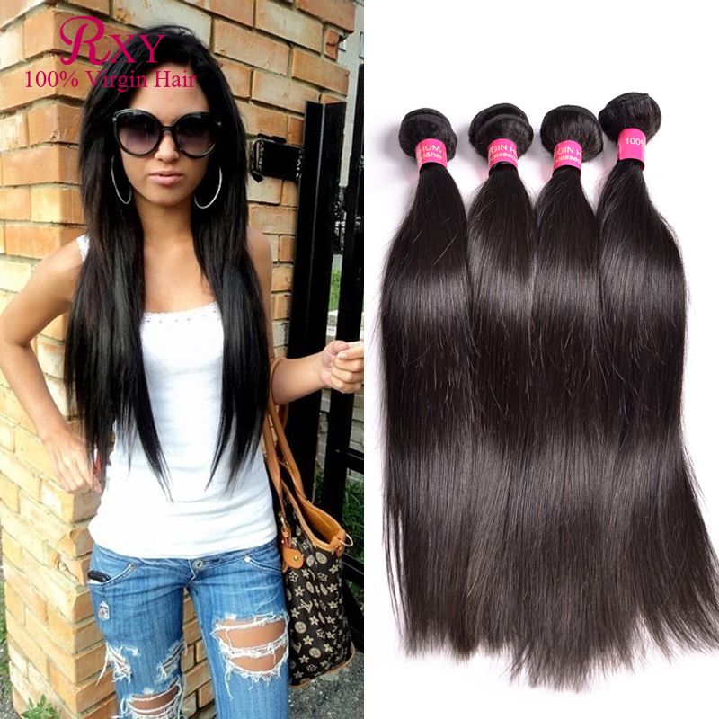 Indian Virgin Hair Straight Weave 4 bundles Raw Indian Hair Bundles 8A Unprocessed Virgin Hair Cheap Remy Human Hair extensions<br><br>Aliexpress