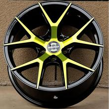 18X8.0 5X108 Yellow and White Beautiful Car Alloy Wheel Rims(China)