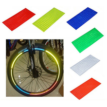 5Pcs Bicycles Reflector Fluorescent MTB Cycling Wheel Rim Reflective Stickers Mountain Bike Stickers Outdoor Bicycle Stickers