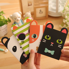 2 Pcs Korean Animal Panda Cat Bear Kawaii Mini Notepad Cute Notebook Cartoon Note Book Small School Supplies For Kid 11.9x8.4cm