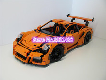 AIBOULLY 10570 technic series 911 GT3 RS orange Model Building Kits Blocks Bricks Toys Christmas Gift Compatible 42056