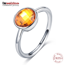 LZESHINE New Summer Collection Solid 925 Sterling Silver Rings AAA Blue CZ Stone Finger Rings for Women Fine Jewelry PSRI0007