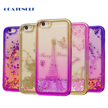 Soft TPU Phone Case For Apple iphone 5 5S 5G SE Plating shell Case Dynamic Bling Liquid Glitter Quicksand Back Cover For iphone5