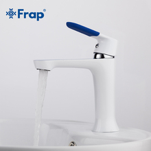 Frap Modern Style New bathroom Basin Faucet Deck Mounted bath Cold and Hot Water tap Mixer Multi Color Handle Cover F1034(China)